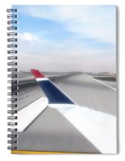 Phoenix Az Airport Wing Tip View Spiral Notebook