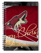 Phoenix Coyotes Christmas Spiral Notebook