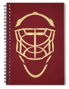 Phoenix Coyotes Goalie Mask Spiral Notebook