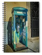 Phone Booth In Blues - Oporto Spiral Notebook