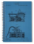 Phonograph Blueprint Patent Drawing Spiral Notebook