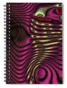 Phosphorescent Fish Fossil Spiral Notebook