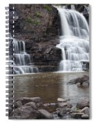 Photograph Of Lower Gooseberry Falls In Minnesota Spiral Notebook