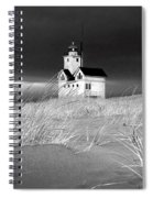 Photograph Of The Lighthouse Big Red In Holland Michigan Spiral Notebook