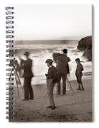 Photographer On The Beach California  Circa 1887 Spiral Notebook