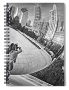 Photographing The Bean - Cloud Gate - Chicago Spiral Notebook