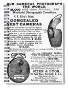 Photography Camera, 1889 Spiral Notebook