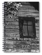Photography Homage Margaret Bourke-white  Ghost Town Madrid New Mexico 1968 Spiral Notebook