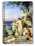 Phryne At The Festival Of Poseidon In Eleusin Spiral Notebook