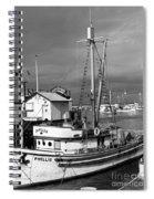 Phyllis Purse-seiner Monterey Wharf California  Circa 1940 Spiral Notebook