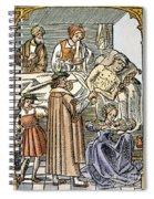 Physician & Plague Victim Spiral Notebook