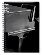 Piano In Black And White Spiral Notebook