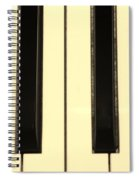 Piano Keys In Sepia Spiral Notebook
