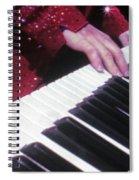 Piano Man At Work Spiral Notebook
