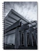 Piano Pavilion Bw Spiral Notebook