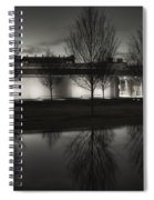 Piano Pavilion Bw Reflections Spiral Notebook