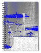 Piano Player In Pastel Blue Spiral Notebook