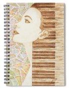 Piano Spirit Original Coffee And Watercolors Series Spiral Notebook