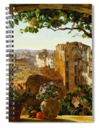 Piazza Barberini In Rome Spiral Notebook