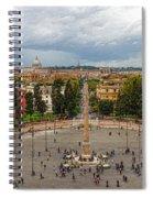 Piazza Del Popolo - Impressions Of Rome Spiral Notebook