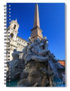 Piazza Navona Fountain Spiral Notebook