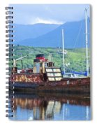 Pibroch Glascow Rusty Ruin Spiral Notebook
