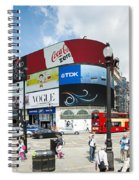 Picadilly Circus London Spiral Notebook