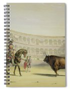 Picador Challenging The Bull, 1865 Spiral Notebook