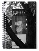 Picasso In Black And White Spiral Notebook