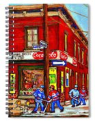 Piche's Grocery Store Bridge Street And Forfar Goosevillage Montreal Memories By Carole Spandau Spiral Notebook