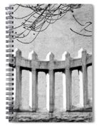 Picket Moon - Fence - Wall Spiral Notebook