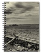 Picketts Charge The Angle Black And White Spiral Notebook