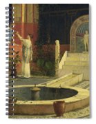 Picking Flowers From The Courtyard Spiral Notebook