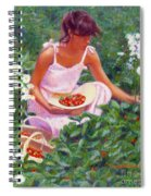 Picking Strawberries Spiral Notebook