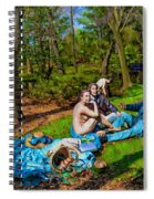 Picnic In The Nude Spiral Notebook