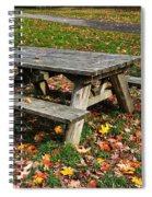 Picnic Table In Autumn Spiral Notebook