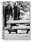 Picnic Table In The Snow Spiral Notebook