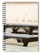 Picnic Table In Winter Spiral Notebook