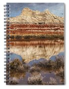 Picturesque Blue Canyon Formations Spiral Notebook