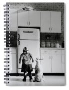 Pie In The Sky In Black And White Spiral Notebook