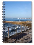 Pier And Promenade By The Atlantic Ocean In Cascais Spiral Notebook