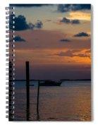 Pier At Buttonwood Sound Spiral Notebook