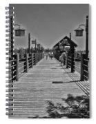 Pier At Fort Wilderness In Black And White Walt Disney World Spiral Notebook