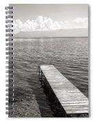Pier At Lake Ohrid Spiral Notebook