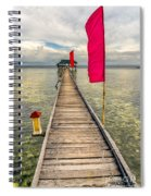 Pier Flags Spiral Notebook