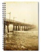 Pier In A Storm Spiral Notebook