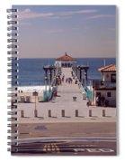 Pier Over An Ocean, Manhattan Beach Spiral Notebook