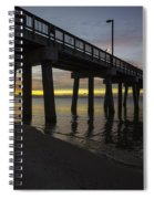 Pier Sunrise On A Cold January Morning Spiral Notebook