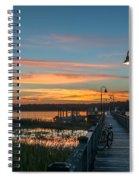 Pier Sunset Spiral Notebook