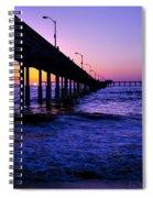 Pier Sunset Ocean Beach Spiral Notebook